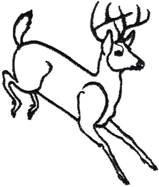 511x600 Image Result For Running Buck Deer Line Drawing Deer