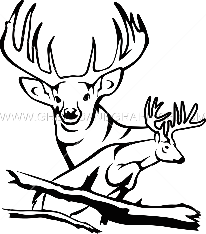 825x936 Jumping Buck Production Ready Artwork For T Shirt Printing
