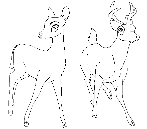 587x515 Traced Bambi Base