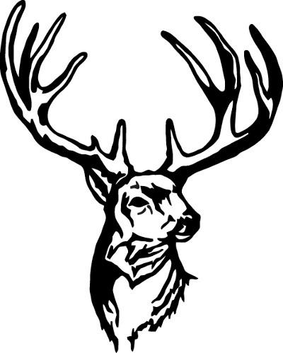 400x499 Buck Decal