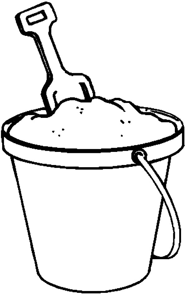 600x949 Beach Bucket, Fill Beach Bucket With Sand Coloring Pages Fill