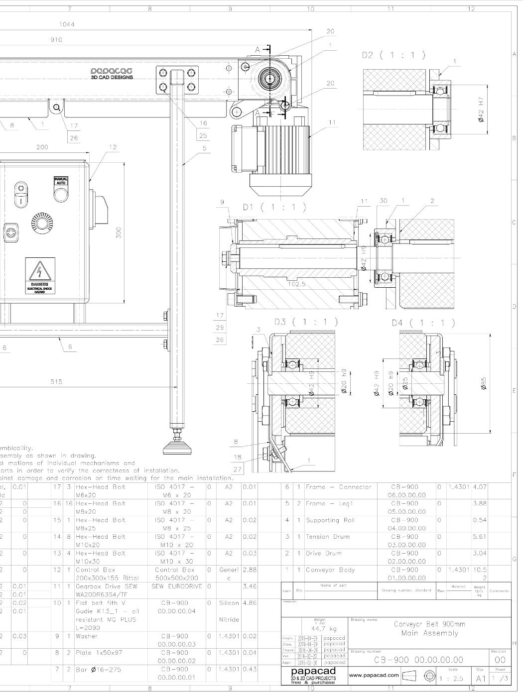 1050x1400 Belt Conveyor Design