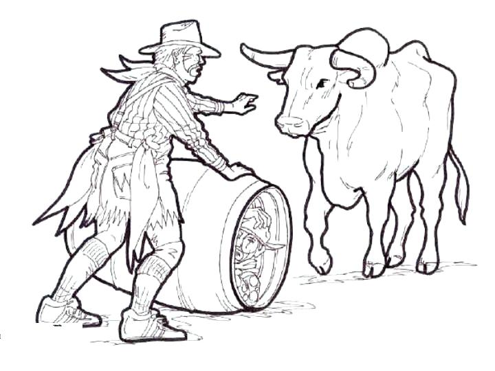 720x540 Coloring Pages Of Bulls Bulls Bucking Bull Mammals Coloring Pages