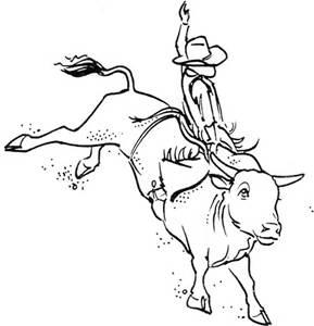 289x300 Bucking Bull Drawings