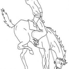 268x268 Bucking Horse Coloring Page Archives