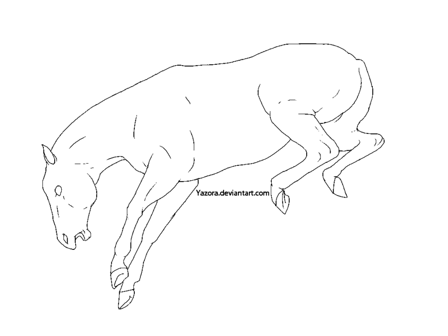 900x675 Bucking Horse Line Art Ms Paint By Yazora