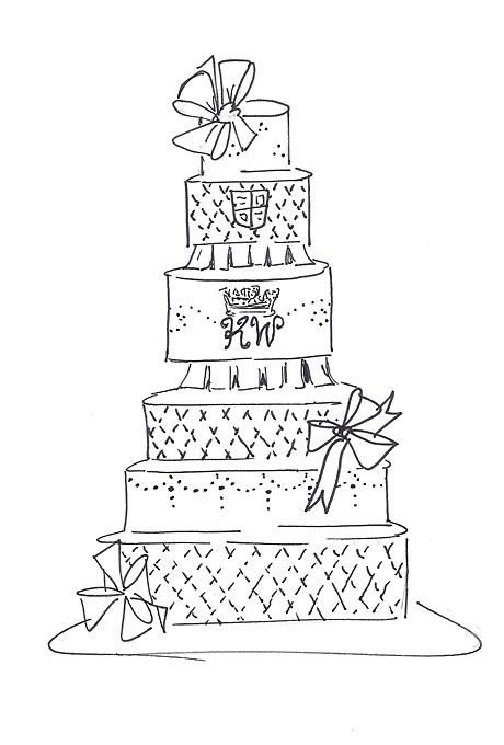 460x680 Prince William And Kate Middleton Fantasy Royal Wedding Cake