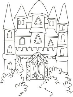 236x312 Balmoral Castle Colouring Page Queen's Birthday