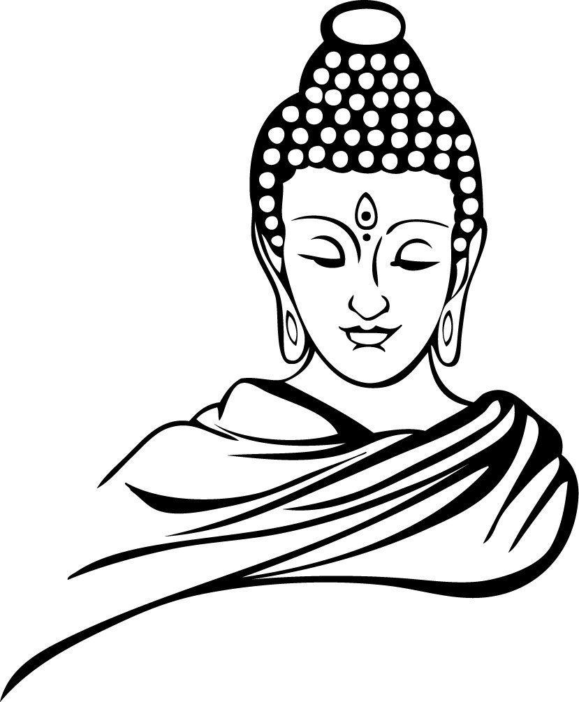 829x1005 Buy Wallmantra Gautam Buddha Wall Decal Sizexl(27x33) Inches