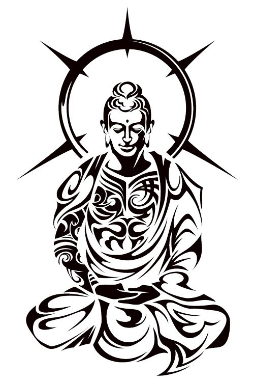 500x750 Coloring Pages Of Buddha Drawing And Painting