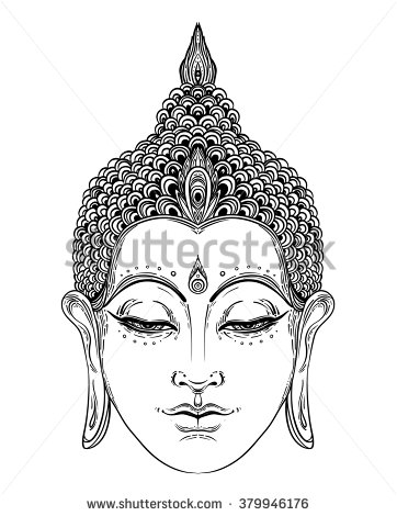 362x470 Stock Vector Head Of Buddha Vector Illustration Over