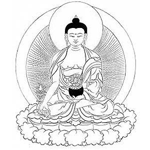 300x300 Buddha Drawing Black And White
