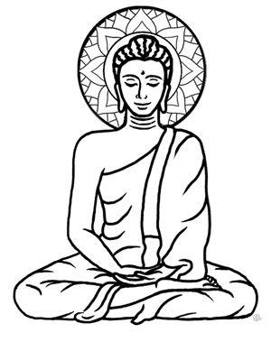 300x379 Buddha Clipart Drawing