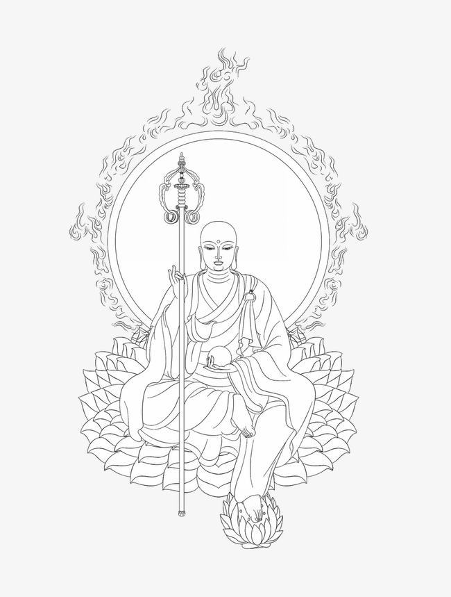 650x859 Hand Painted Buddha, Buddhism, Black And White Png And Psd File