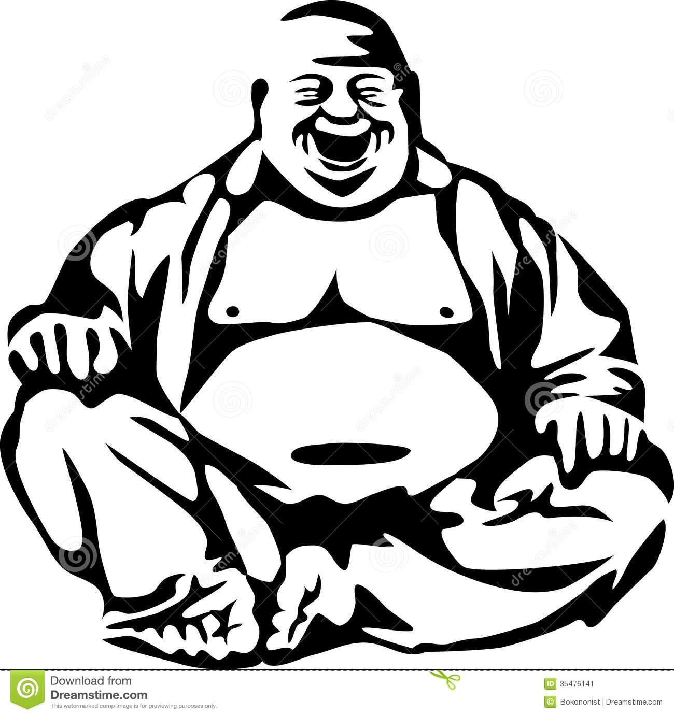 1300x1382 Laughing Buddha Art Stylized Laughing Buddha