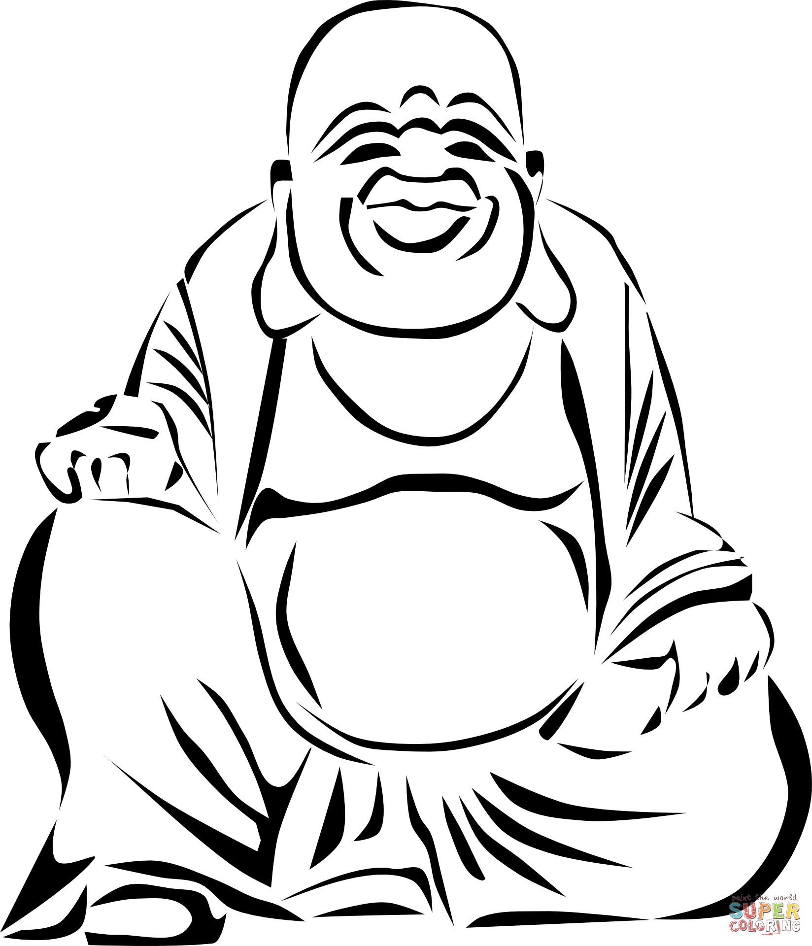 1648x1920 Laughing Buddha Coloring Page Free Printable Coloring Pages