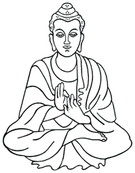 570x728 Buddha Coloring Pages