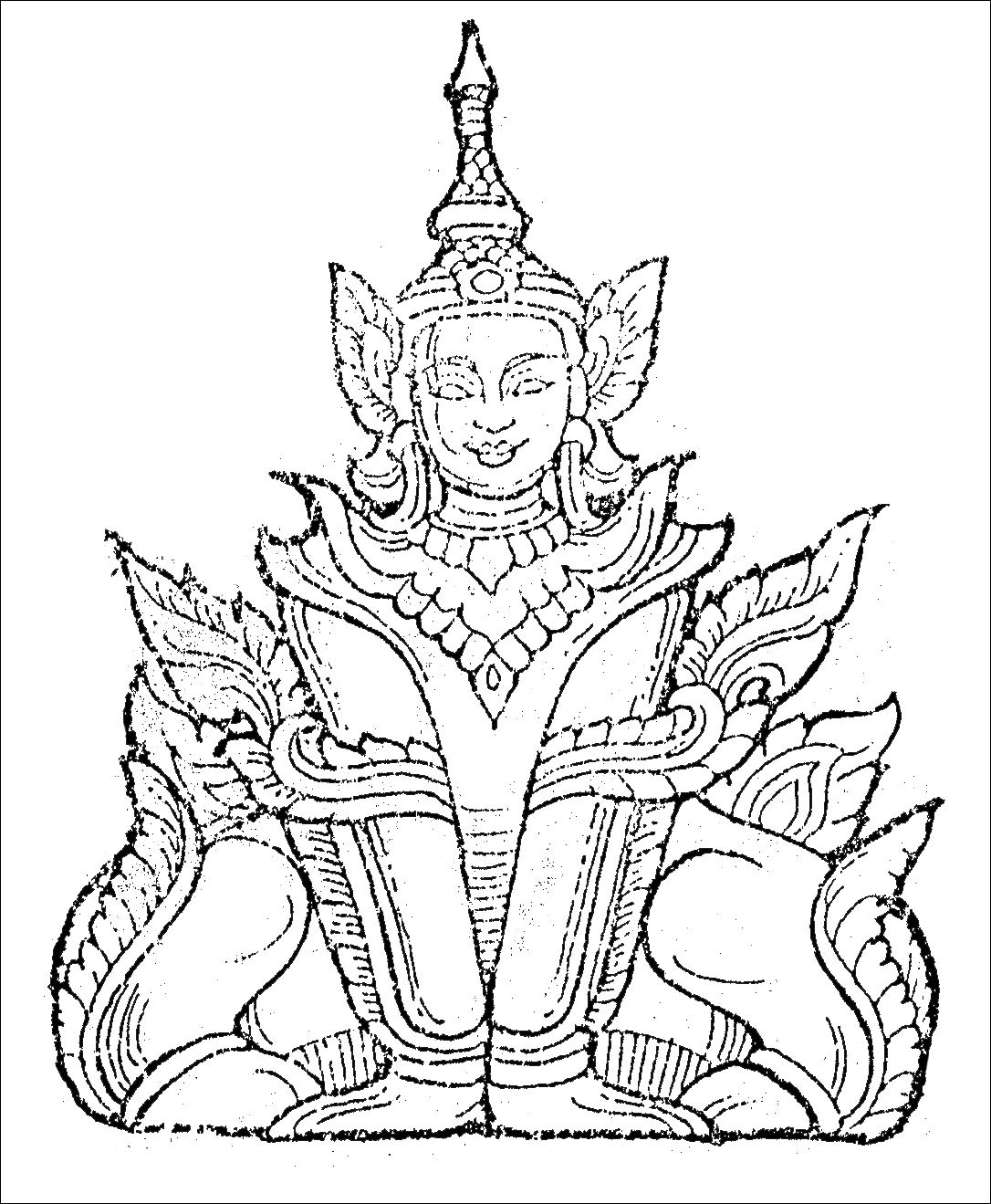 1086x1319 Buddha Coloring Pages