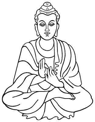 Buddha Cartoon Drawing