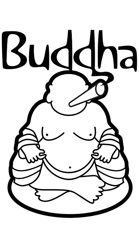 449x800 Buddha Posters By Doobclothing Redbubble