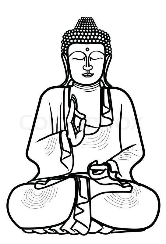 Buddha Face Line Drawing : Buddha cartoon drawing at getdrawings free for