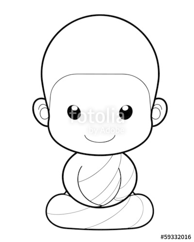 400x500 Buddhist Monk Cartoon, Illustration Stock Image And Royalty Free