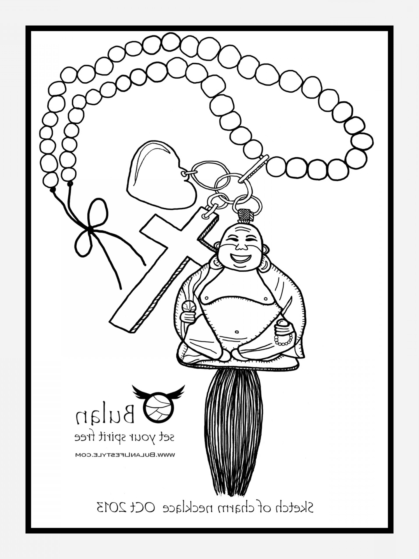 1440x1920 Cartoon Elegant Drawing Of Necklace Oblacoder