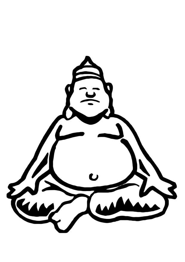 620x875 Coloring Page Buddha