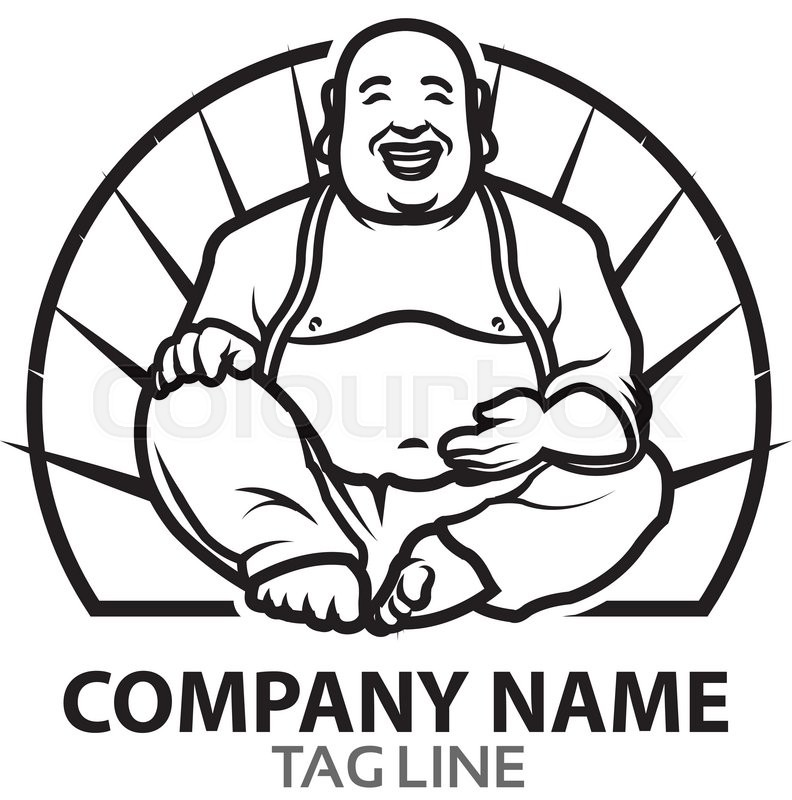 792x800 Graphic Design Of Funny Fat Buddha Cartoon Mascot For Logo