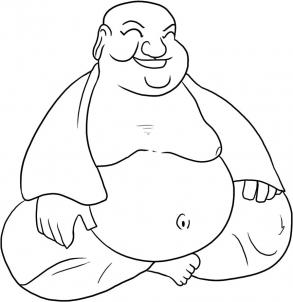293x302 How To Draw Buddha, Step By Step, Symbols, Pop Culture, Free