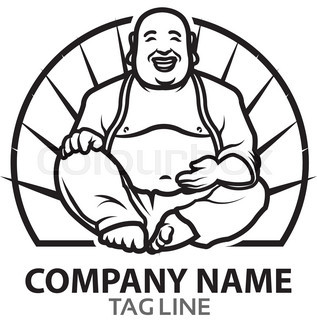 317x320 Vector Design Of Funny Fat Buddha Cartoon For Business Logo