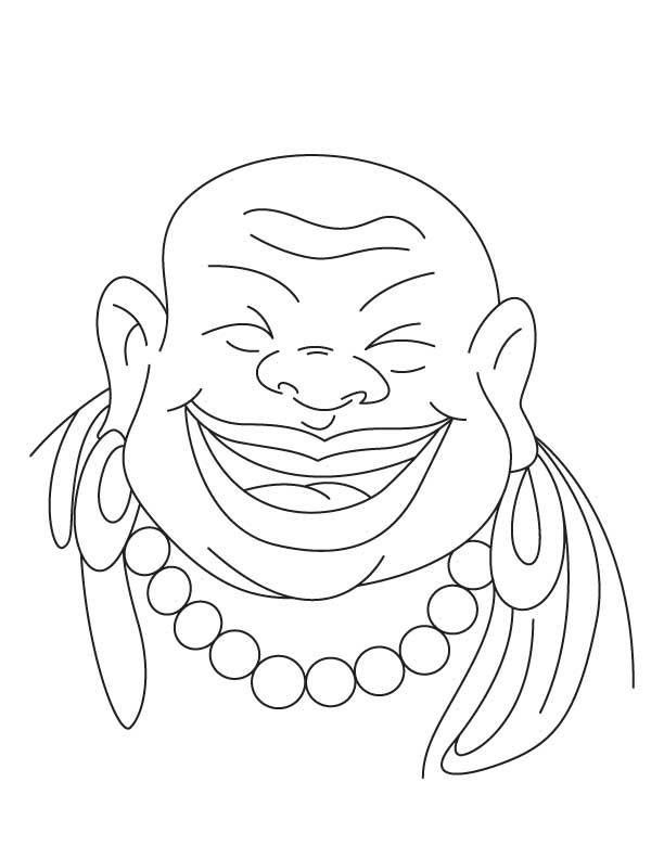612x792 Chinese Buddha Coloring Page Art Chinese Buddha