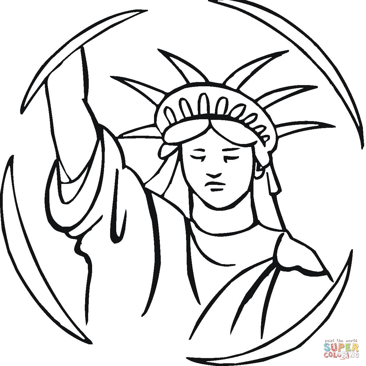 1200x1200 Drawn Statue Of Liberty
