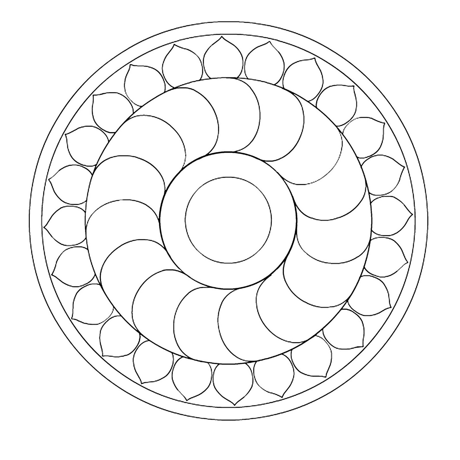 1600x1600 Mandala For Kids Free Draw To Color