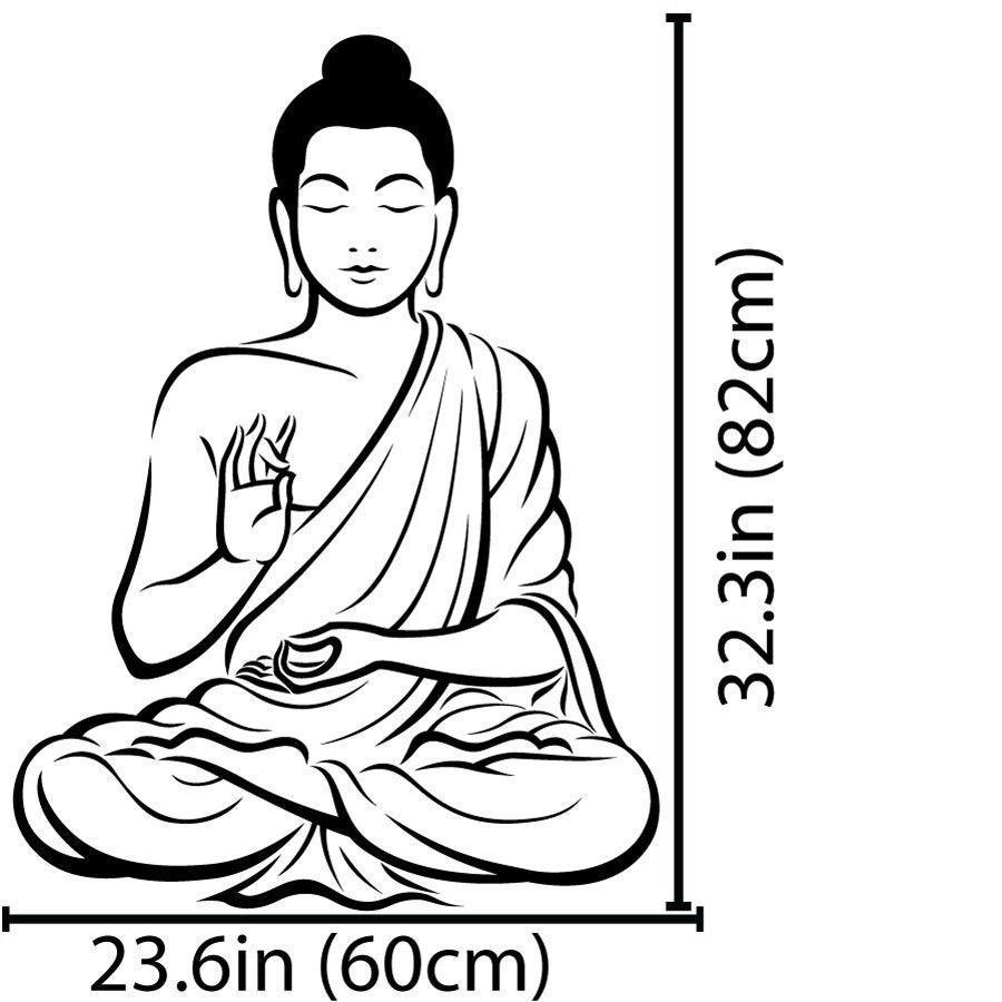 900x900 Meditating Buddha Wall Sticker