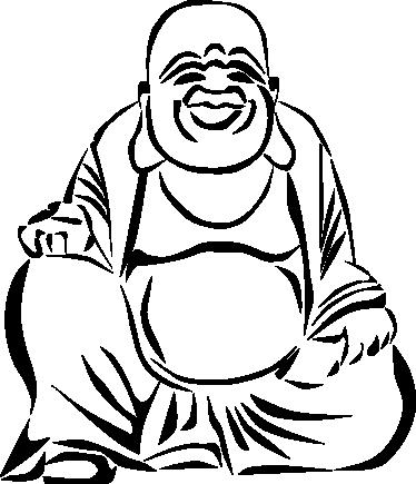 374x435 Buddha Drawing Wall Sticker