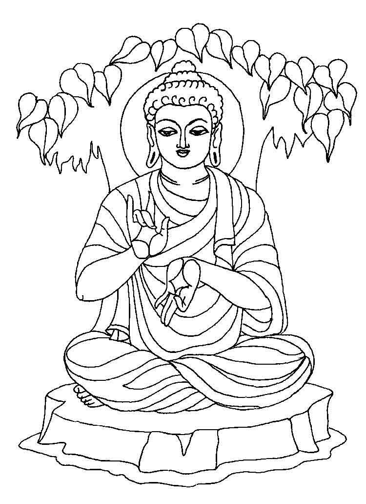 750x1031 Buddhist Coloring Pages