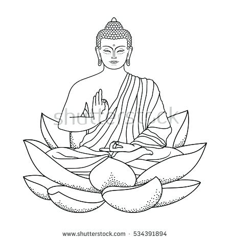 450x470 Buddhist Coloring Pages Coloring Page Coloring Pages Drawings Free