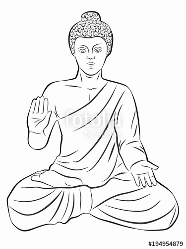 375x500 Illustration Of Buddha, Vector Draw Stock Image And Royalty Free