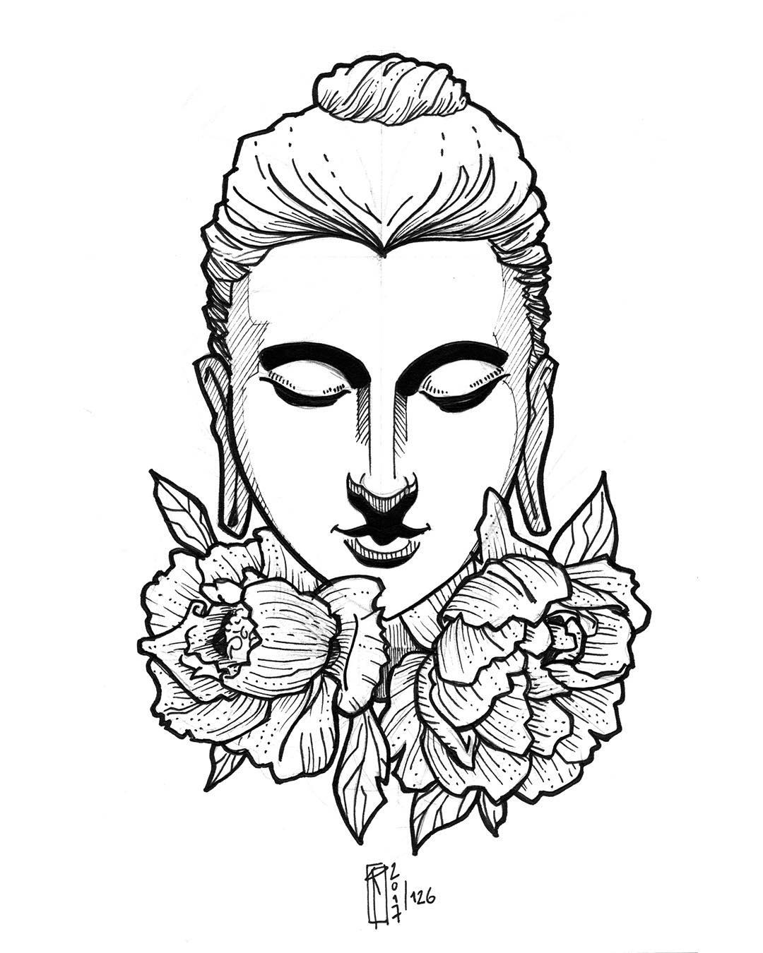 1080x1350 Sketch Buddha Illustration Art On Instagram