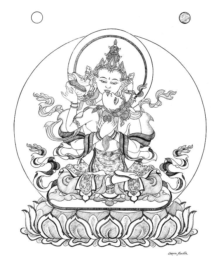 759x900 Buddha Drawings Fine Art America