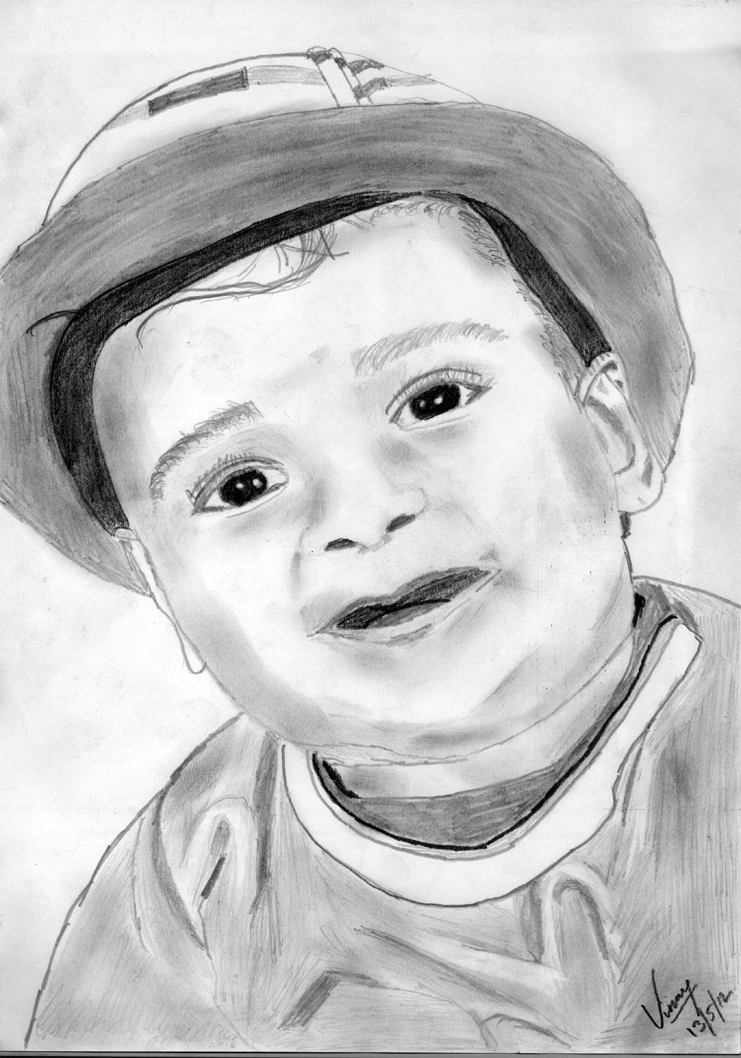 1059x1512 Pencil Sketch Of A Cute Baby