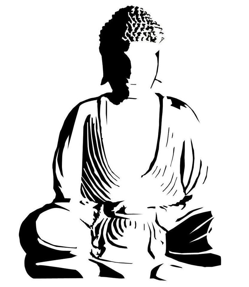 832x960 Simple Buddha Drawing