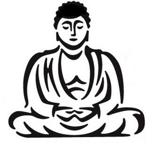 512x512 Buddha Clipart Black And White