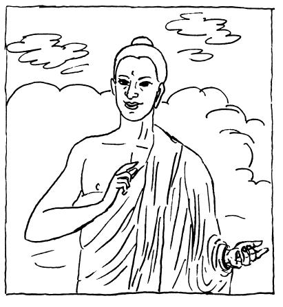 411x447 Buddha Coloring Pages