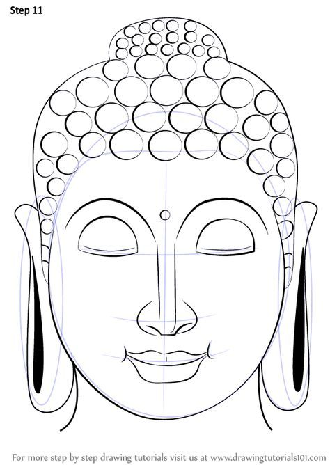 474x668 Learn How To Draw Buddha Face (Buddhism) Step By Step Drawing