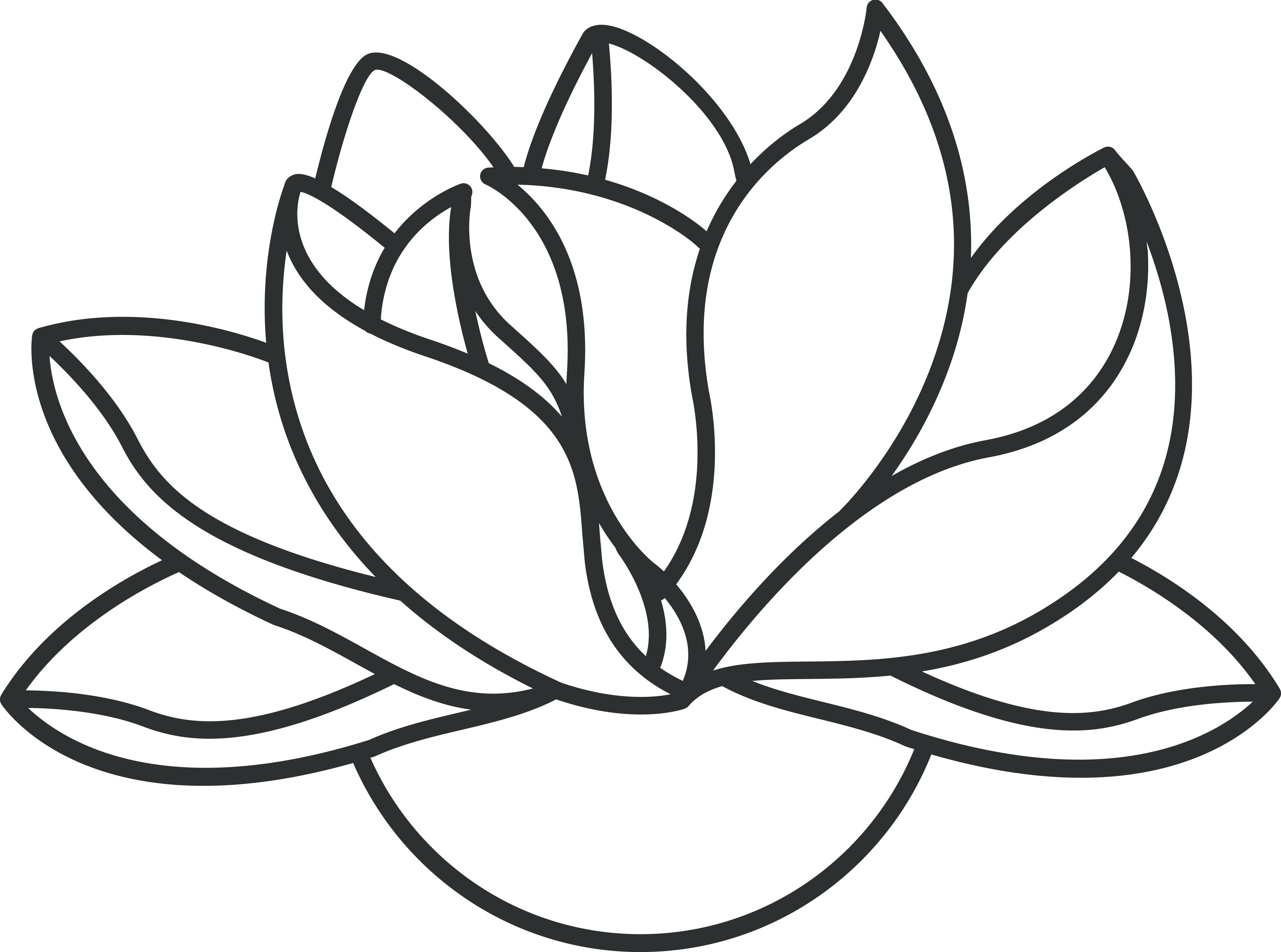 4000x2973 Buddha Clipart Drawing