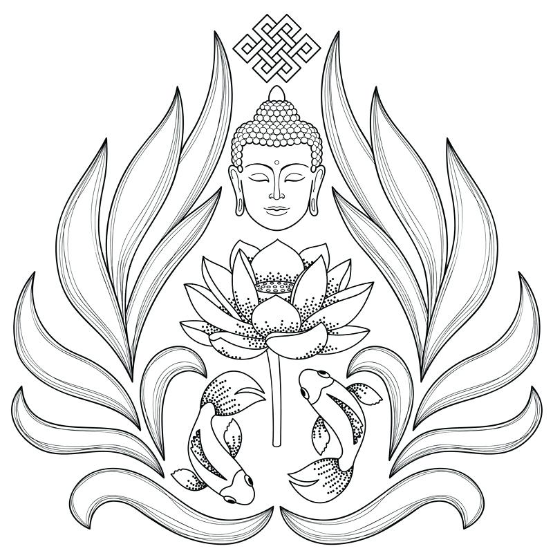 Buddha drawing tattoo at free for for Buddha coloring pages