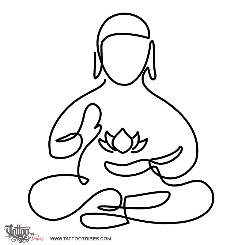 Buddha Drawing Tattoo At Getdrawings Free For Personal Use