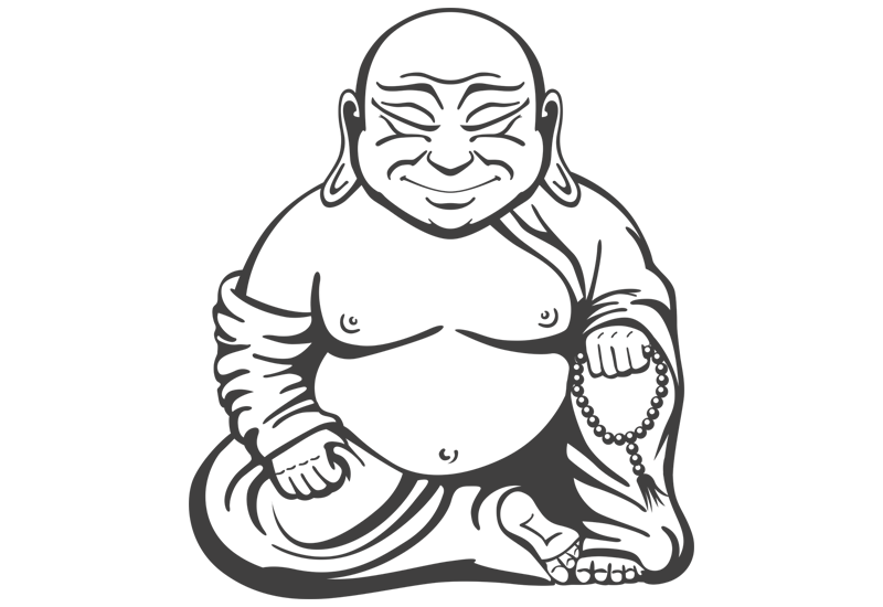 800x550 Buddha Wall Decal Easy Decals